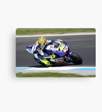 Valentino gassing it at MG in 2008 Canvas Print