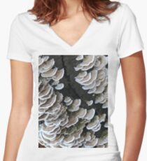 Fungus  Women's Fitted V-Neck T-Shirt