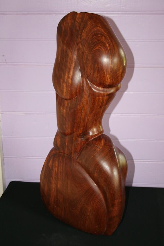 Cedar Wood Torso by Hans  Nielsen