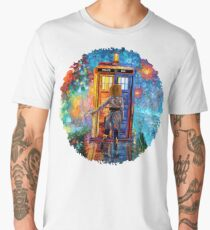 Beutiful Blondie Time traveller abstract Men's Premium T-Shirt