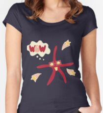 Lovely illustration with a starfish. Women's Fitted Scoop T-Shirt