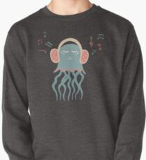 Lovely illustration with a jellyfish music lover Pullover