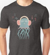 Lovely illustration with a jellyfish music lover Unisex T-Shirt