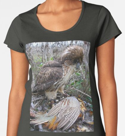 Red Tail Hawk and Pheasant  Women's Premium T-Shirt