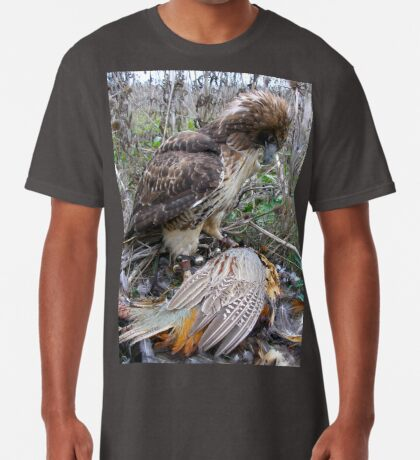 Red Tail Hawk and Pheasant  Long T-Shirt