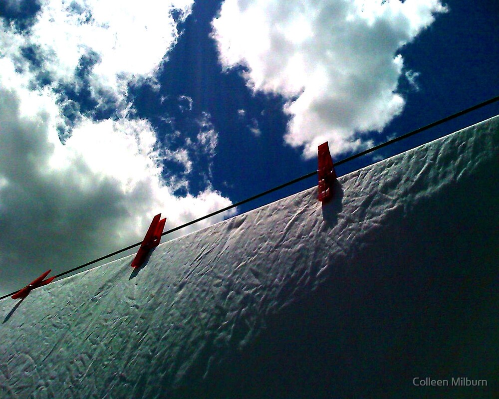 New red pegs by Colleen Milburn
