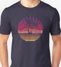 Modern Retro 80s Outrun Sunset Palm Tree Silhouette Original Unisex T-Shirt