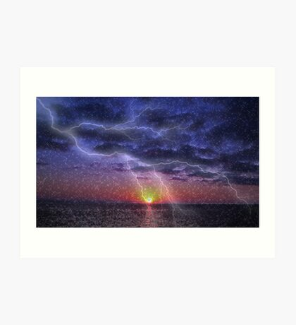 Scarry Stary Sunset Colab No3 Art Print