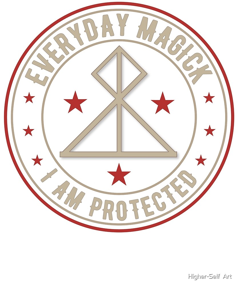 I Am Protected activated magickal sigil gift by Higher-Self  Art