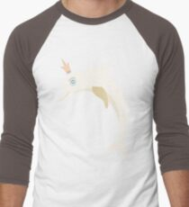 Lovely illustration with a gentle dolphin. Men's Baseball ¾ T-Shirt