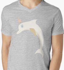 Lovely illustration with a gentle dolphin. Men's V-Neck T-Shirt