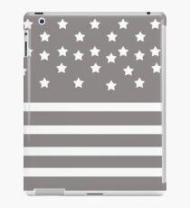 Grey and White Stars & Stripes  iPad Case/Skin