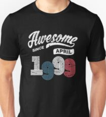 Awesome Since April 1999 Shirt Vintage 19th Birthday Unisex T-Shirt