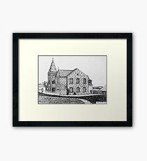 266 - CAPEL BYCHAN, RHOSLLANERCHRUGOG - DAVE EDWARDS - INK - 2017 Framed Print