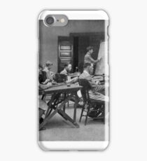 United States Signal Corps CLASS IN TELEPHONY - NLISTED MEN, U. S. ARMY The province of the telephone in modern warfare is constantly broadening 1917 iPhone Case/Skin
