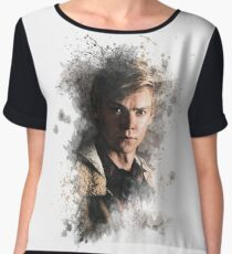Newt - Maze Runner: Death Cure Painting Design Color Chiffon Top