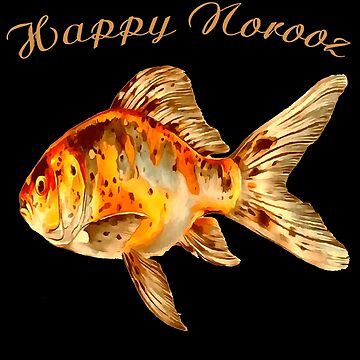 Elegant Happy Norooz Goldfish Persian New Year by taiche