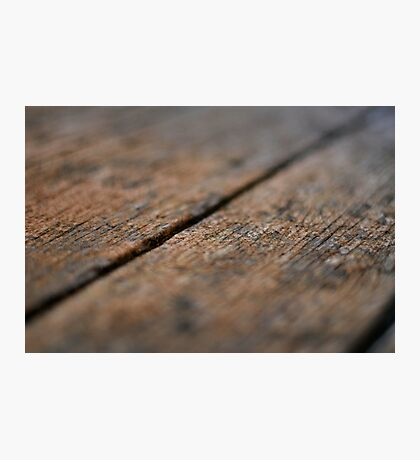 Wooden Boards Photographic Print