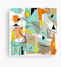 Mid-Century Modern Abstrakte Kunst Leinwanddruck