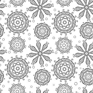Floral seamless background by Kudryashka