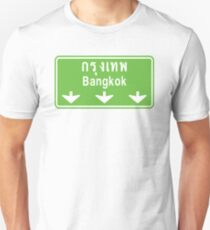 Bangkok Ahead ~ Watch Out! Thailand Traffic Sign Unisex T-Shirt