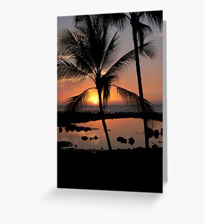 Kona Sunset Greeting Card