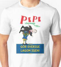 Gör Sverige lagom igen - Pepe Långtrump & Käbbel-Stefan med logga Unisex T-Shirt