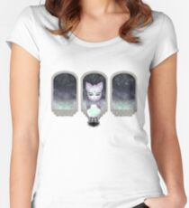 Mystic Miku | Crystal Ball & Zodiac | Light Grey Fitted Scoop T-Shirt