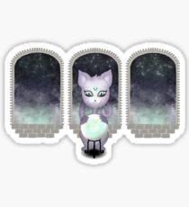 Mystic Miku | Crystal Ball & Zodiac | Light Grey Sticker