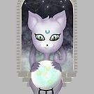 Mystic Miku | Crystal Ball & Zodiac | Light Grey by LolitasAdorned