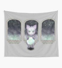 Mystic Miku | Crystal Ball & Zodiac | Light Grey Wall Tapestry