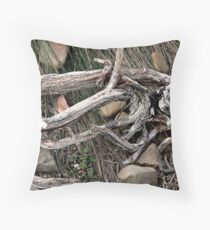 Stick and Wire Throw Pillow