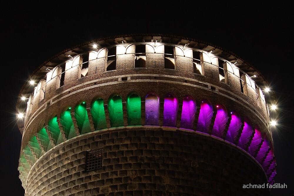 castello sforzesco tower by achmad fadillah