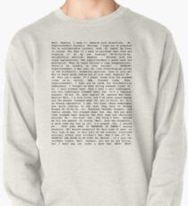 Das gesamte gedämpfte Schinken-Skript Sweatshirt