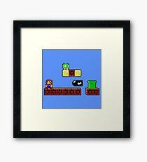 Pixel Nes Mario Framed Print