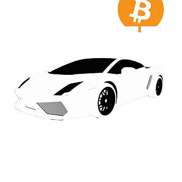 Bitcoin Lambo T-Shirt - Crypto Shirt - Bitcoin Lambo Shirt by NativOrganics