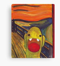 Monster Lisa (#002 of the Monster Imitates Art Collection) Canvas Print