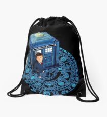 The Arc Of The time Zone Drawstring Bag