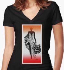 Africa Fashion Shirt mit V-Ausschnitt
