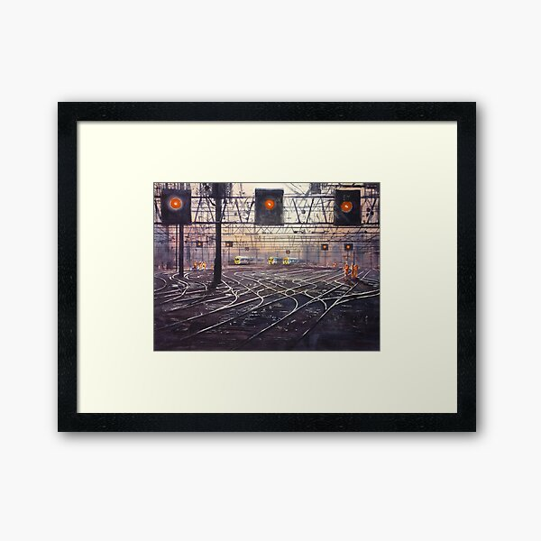 London Tracks Framed Art Print