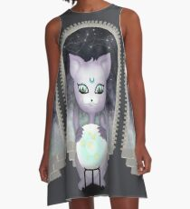 Mystic Miku | Crystal Ball & Zodiac | Dark Grey A-Line Dress