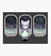 Mystic Miku | Crystal Ball & Zodiac | Dark Grey Photographic Print