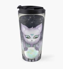 Mystic Miku | Crystal Ball & Zodiac | Dark Grey Travel Mug