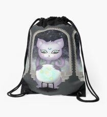 Mystic Miku | Crystal Ball & Zodiac | Dark Grey Drawstring Bag