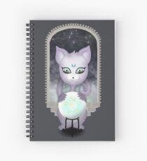 Mystic Miku | Crystal Ball & Zodiac | Dark Grey Spiral Notebook