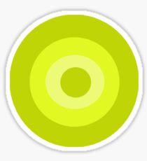Yellow Target  Sticker