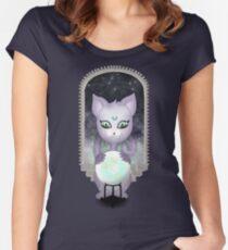 Mystic Miku | Crystal Ball & Zodiac | Dark Grey Fitted Scoop T-Shirt