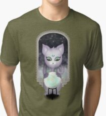 Mystic Miku | Crystal Ball & Zodiac | Dark Grey Tri-blend T-Shirt