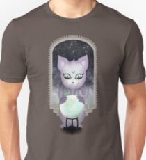 Mystic Miku | Crystal Ball & Zodiac | Dark Grey Slim Fit T-Shirt