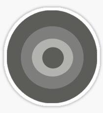 Grey Target  Sticker